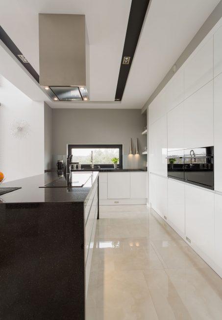 Marble floor in kitchen